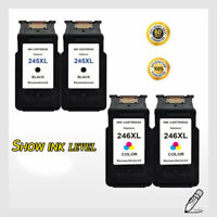 4 PK PG 245XL CL 246XL Ink Cartridge Combo Set For Canon PIXMA MG2920 MG2924
