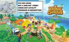 ANY Animal Crossing AMIIBO PVC COINS! YOU PICK! NFC Coin Only. BUY 4 GET 1!!