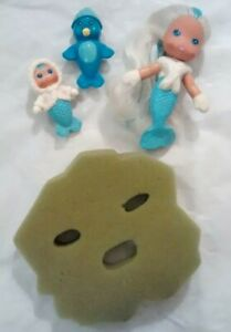 Sea Wees Icy Gals Frosty, Baby Flo, Penny Penguin, lilly pad vintage 80s Kenner