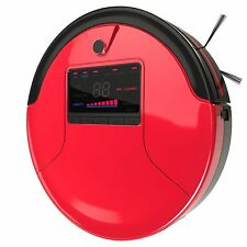 Bobsweep Robotic Vacuum Cleaner, Duster, & Mop w/ Turbolift- Red/ Black