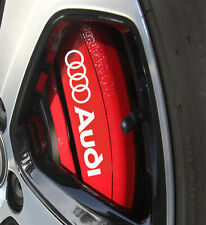 Audi A3 A4 A5 A6 S3 S4 S5 Brake Caliper HIGH TEMP. Vinyl Decal Sticker 6 X
