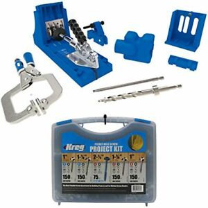 Kreg K4MS Jig Master System and Pocket-Hole Screw Kit in 5 Sizes