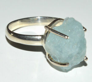 Aquamarine Rough 925 Sterling Silver Ring Jewelry s. JB19110