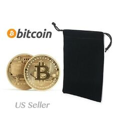 Bitcoin Metal Physical Commemorative Gold Plated Coin Virtual Currency Gold Gift