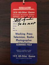 1970 MLB All Star Game Full, Unused Ticket Signed By Carl Yaz Yastrzemski MVP