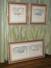 "Set 3 Wesley ""Wess"" Smith Cast Paper Artwork-""Carousel 34; Horse-signed & #'d-Coa"