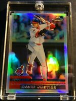 2000 DAVID JUSTICE TOPPS CHROME REFRACTOR #66 INDIANS READ NM (123)