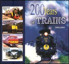 Bhutan 2005 Trains/Steam Engine/Locomotives/Rail/Railways/Transport  sht n44691