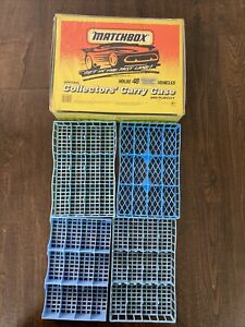 1994 Matchbox Superfast 48 Car Collectors Carry Case & Play City W/ 4 trays
