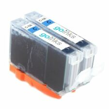 2 Cyan Ink Cartridges for Canon PIXMA iP3500 iP5300 iX5000 MP510 MP800 MP970