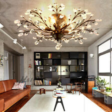 Vintage Ceiling Pendant Lights Crystal Modern Chandelier LED Fixture Retro Metal