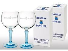 Bombay Sapphire Gin Crystal Balloon Glass X 2 Gift Boxed