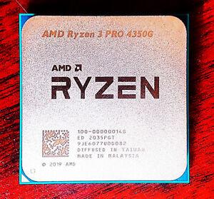 AMD Ryzen 3 4350G 4 Core CPU - 3.8GHz Base & 4.0GHz Boost Better than 3400G - US