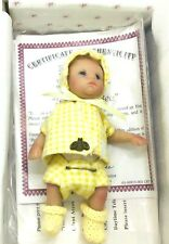 """Ashton Drake Galleries Baby Doll """"Busy As A Bee"""" 4 1/2"""" COA"""
