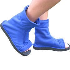 Uzumaki Naruto Uchiha Sasuke Sandals Kakashi Cosplay Shoes Blue Boots Costume NN