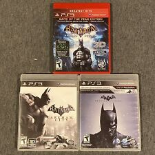Batman Trilogy Arkham City Origins Asylum 3 Game Lot (PlayStation 3, PS3)