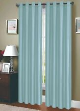Two Panels Dupioni Breathable Fabric Grommet Top Window Curtains Drapes 81011-2