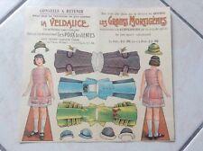 Feuille 3D à découper A4 8215.449 Poupée Victorienne Decoupage Sheet Doll Teddy