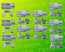 10x Gabelkopf - Gabelgelenk 8x16 DIN71752 - M8 Linksgewinde!! + Federklappbolzen