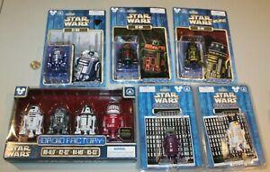 U PICK RARE STAR WARS Droid Factory Figures Disney Theme Park R2 R5 MOC customs