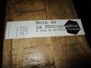 Marque page collector-Le mois de la photographie-Vire&Bocage Normand