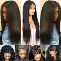 Yaki Kinky Straight 360 Lace Frontal Wig 100% Brazilian Virgin Human Hair Wigs
