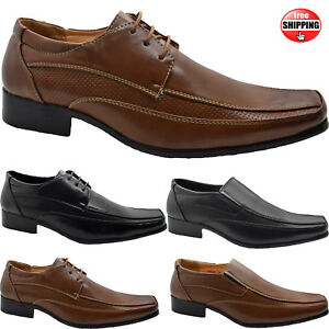 Mens Casual Formal Office Smart Wedding Occasion Party Work Lace Up Dress Shoes