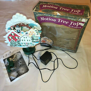 Bradford Santa Motion Christmas Tree Top Topper Electric Lighted Rotating WORKS