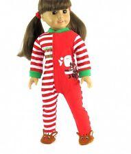 "Santas Little Helper Pajamas Christmas Fits 18"" American Girl Doll Clothes"