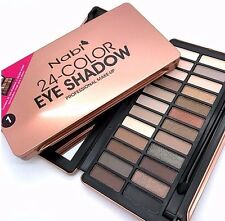 Nabi 24 Color Eye shadow Palette with Brush - Neutral Tone Shimmery & Matte!