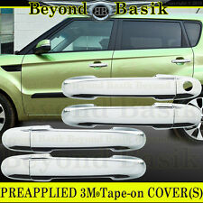 Fits 2011 2012 2013 Kia Soul 4 door Chrome Door Handle Covers Overlay w/o smartK