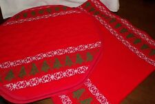 "Holiday Table Runner 68"" Long With 4 Matching 16"" Octa