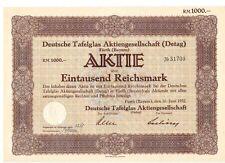Deutsche Tafelglas AG  Detag 1932  Fürth - Bayern