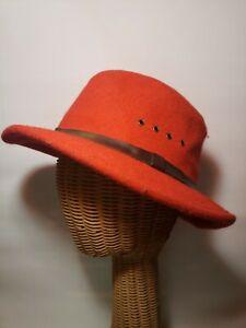 Genuine Filson Virgin Wool Fedora Hat Size Large RED
