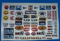 SAND ROVER CUSTOM STICKERS DECALS WILL FIT MUST 1/10th RC CARS TAMIYA HPI LOSI