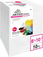 PHOENIX Pre Stretched Canvas for Painting - 8x10 Inch   10 Pack - 5 8 Inch of
