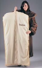 "Fur Coat Storage Garment Bag Black Cotton Poplin Breathable 60"" Long"