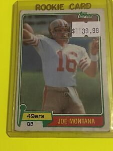 🔥1981 TOPPS JOE MONTANA RC CARD ROOKIE #216 - HOF - SAN FRANCISCO 49ers🔥