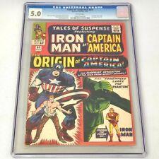1965 Tales to Astonish 1959 Series #63 CGC 5.0 1st SA Origin Captain America