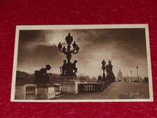 YVON - PARIS EN FLANANT Pont Alexandre III 1919 Hélio 3e série - 61 CPA
