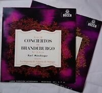 Bach - 6 Brandenburg Concertos, MÜNCHINGER, BARCHET, Decca LXT 5198, 5199, MONO