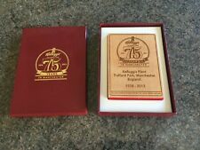 Kellogg's Celebrating 75 Years In Manchester Commemorative Wooden Block Rare