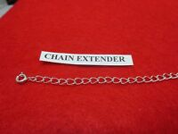5 INCH STERLING  SILVER PLATED 4MM NECKLACE EXTENDER WITH SPRING RING CLASP