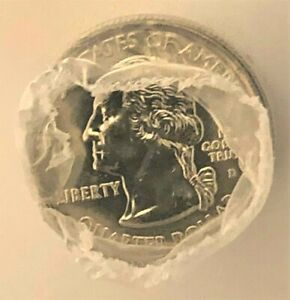 Collectible Uncirculated Roll of 2008D New Mexico Gold Plated State Quarters