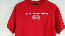 "NINTENDO  Red T-Shirt sz L  ""I HAVE CONTROL ISSUES"""
