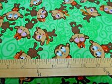 1 yard Sassy Monkeys Fabric