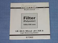 Hama filtro Wratten 100x100 LB kr9/85c