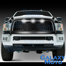 Matte Black Replacement Mesh Grille+Shell+White LED for 10-18 Dodge RAM 2500+350