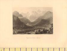 C1830 Antik Aufdruck ~ Bagneres De Luchon Pyrenäen