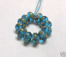 "Handmade Lampwork Perles en verre, ""turquoise TENTATION"""